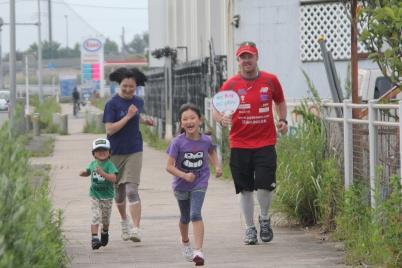 Yasuo family running
