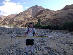 Trail run finish high