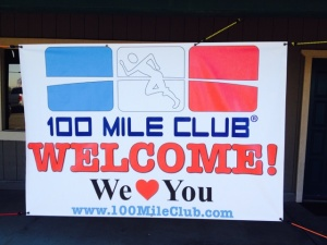 100MC welcome sign