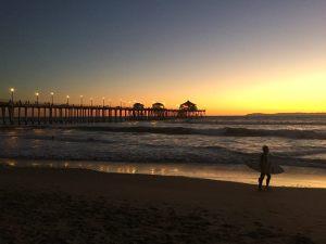 Sunset at Huntington Beach 15th Jan 2015