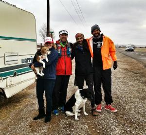 sam, tony, pat jup and dogs